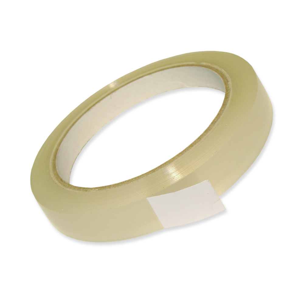 12 Rollen PP-Klebeband, leise, transparent, 12 mm