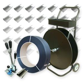 Abrollwagen für Umreifungsband 12 12,7 13 15,5 16 19 25 mm Textil PP PET Band