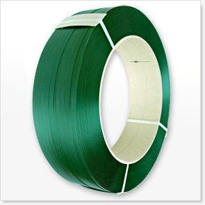 PET-Umreifungsband 12 mm x 0,7 mm 2300 m grün für Umreifungsgerät Kern 406 mm